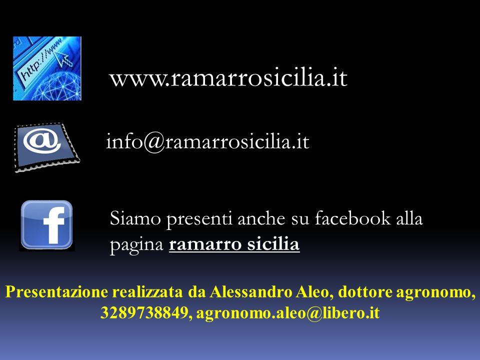 info@ramarrosicilia.it www.ramarrosicilia.it