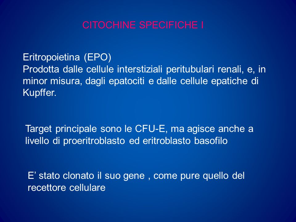 CITOCHINE SPECIFICHE I