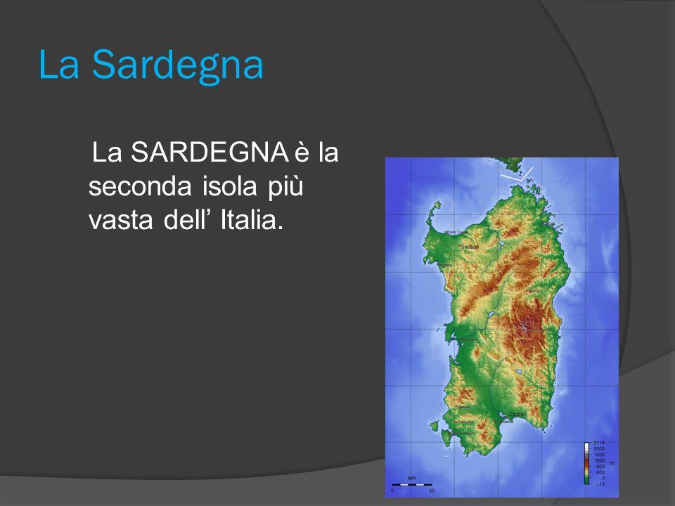 La Sardegna La SARDEGNA è la seconda isola più vasta dell' Italia.