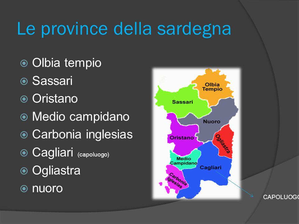 Le province della sardegna