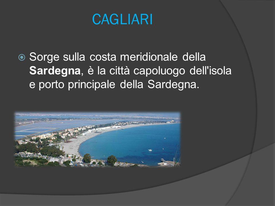 CAGLIARI Sorge sulla costa meridionale della Sardegna, è la città capoluogo dell isola e porto principale della Sardegna.
