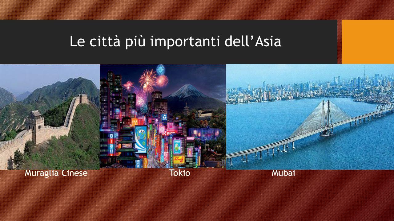 Le città più importanti dell'Asia