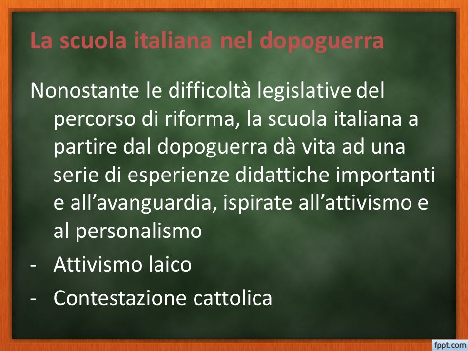 La scuola italiana nel dopoguerra