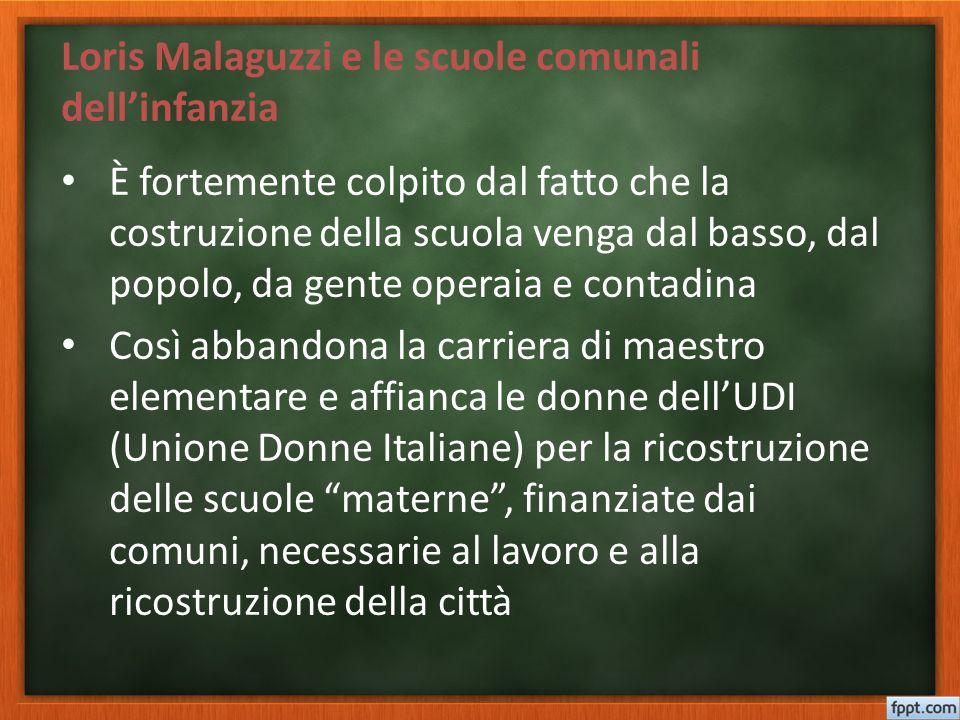 Loris Malaguzzi e le scuole comunali dell'infanzia