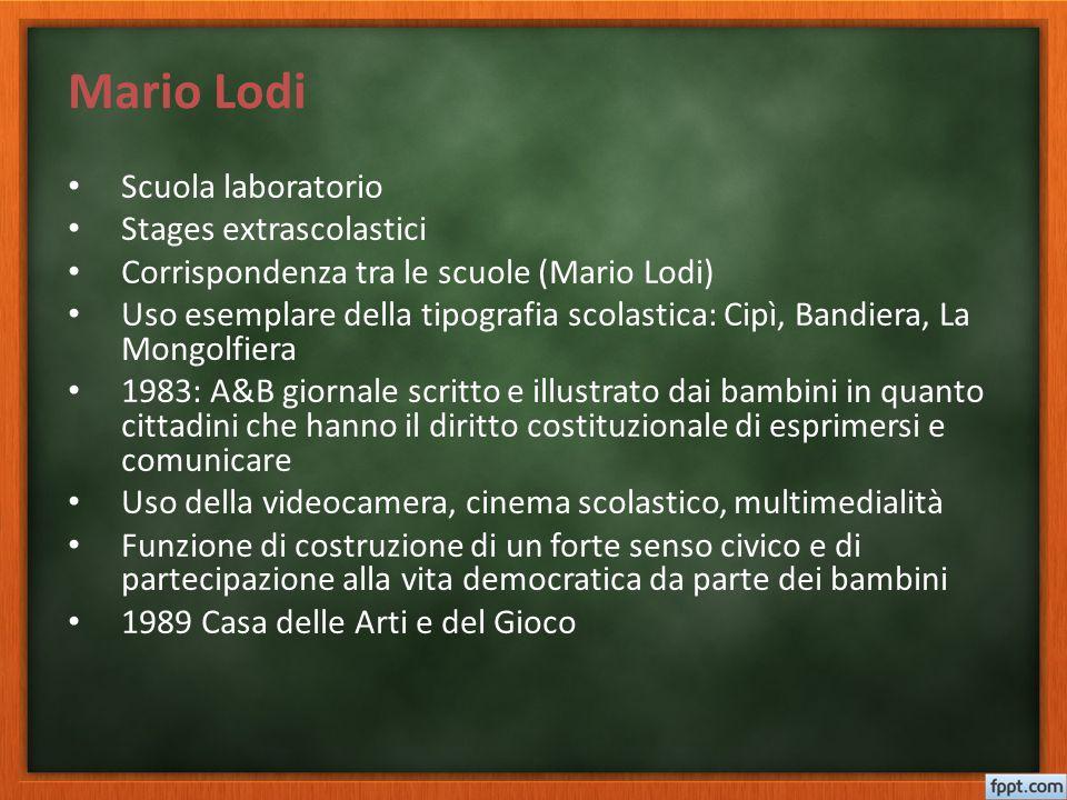 Mario Lodi Scuola laboratorio Stages extrascolastici