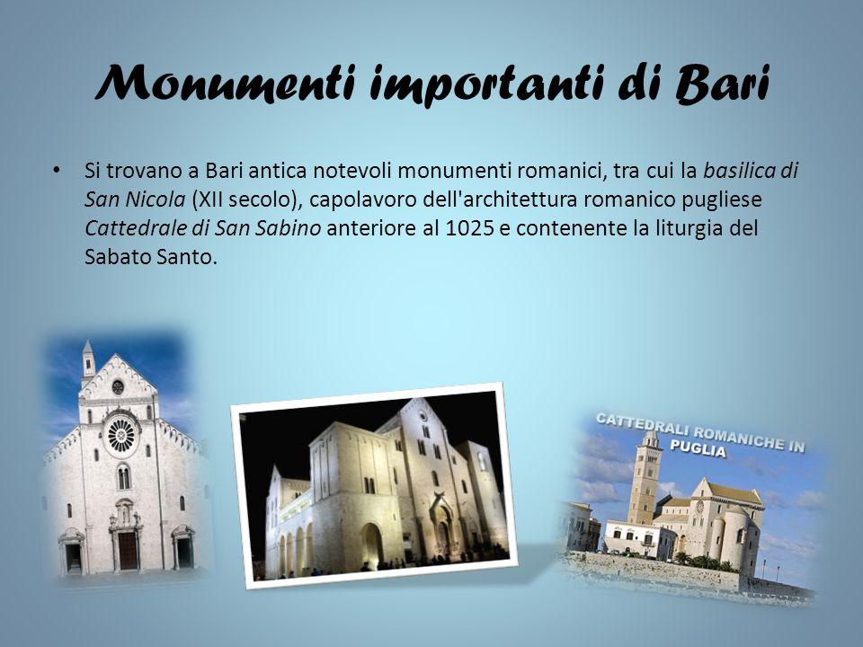 Monumenti importanti di Bari