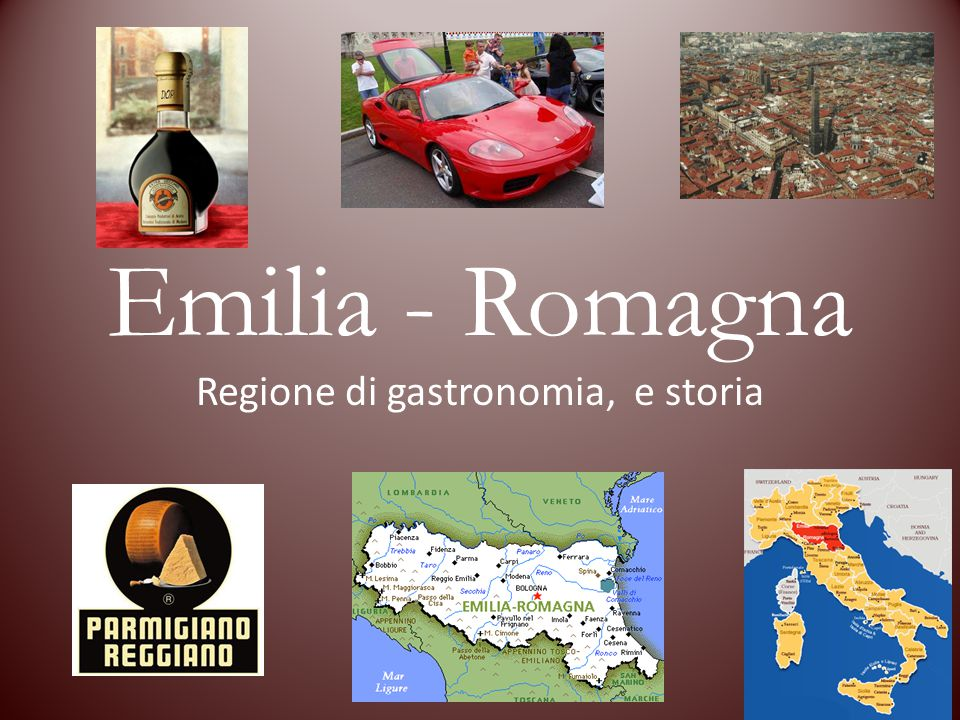 Regione di gastronomia, e storia