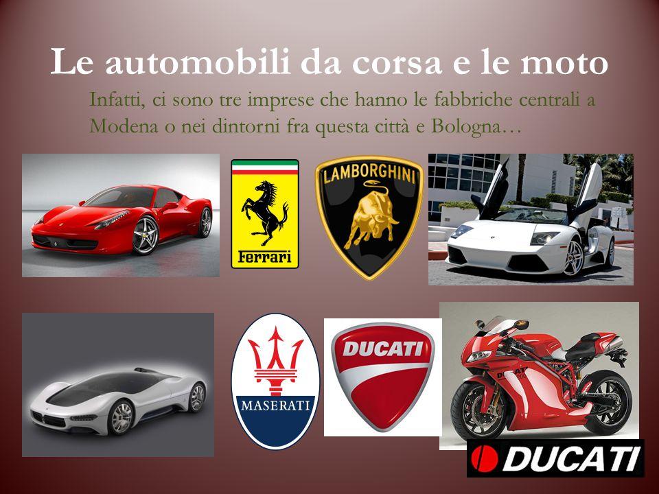 Le automobili da corsa e le moto