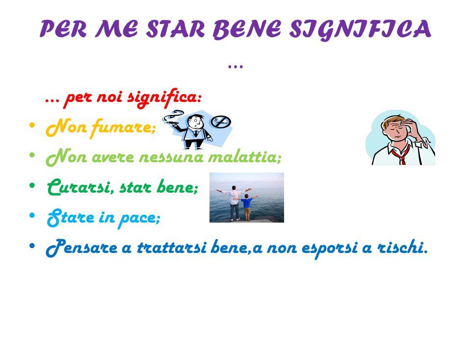 PER ME STAR BENE SIGNIFICA …