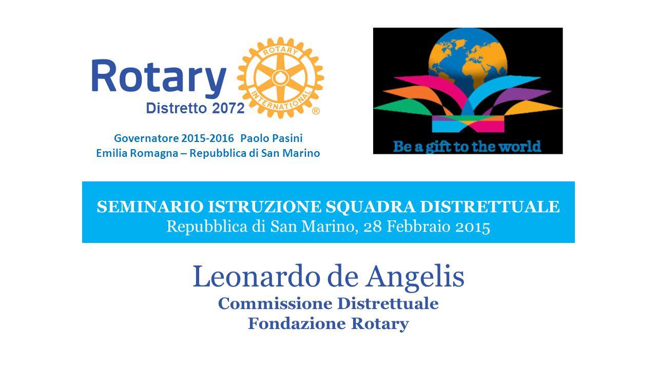 Leonardo de Angelis Commissione Distrettuale