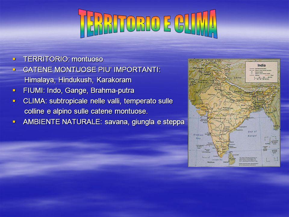 TERRITORIO E CLIMA TERRITORIO: montuoso