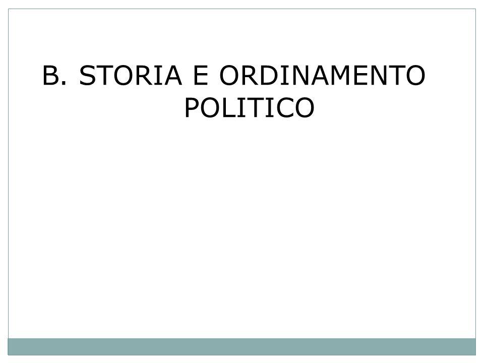 B. STORIA E ORDINAMENTO POLITICO