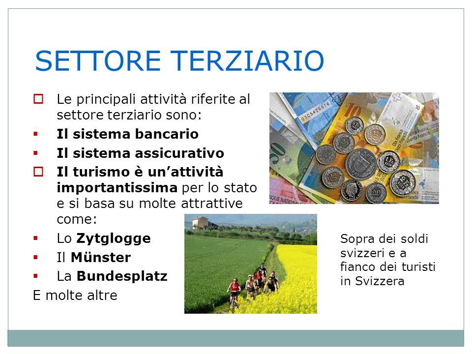 SETTORE TERZIARIO Le principali attività riferite al settore terziario sono: Il sistema bancario.