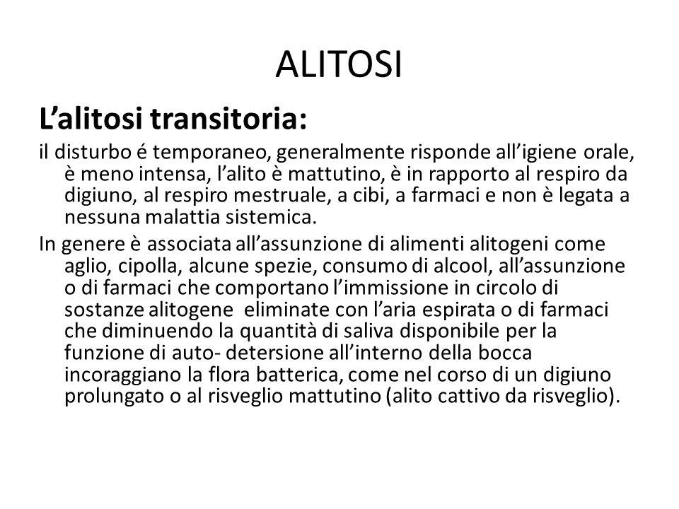 ALITOSI L'alitosi transitoria: