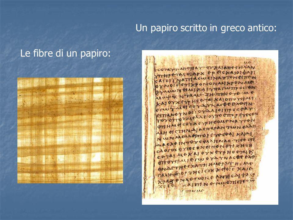 Un papiro scritto in greco antico: