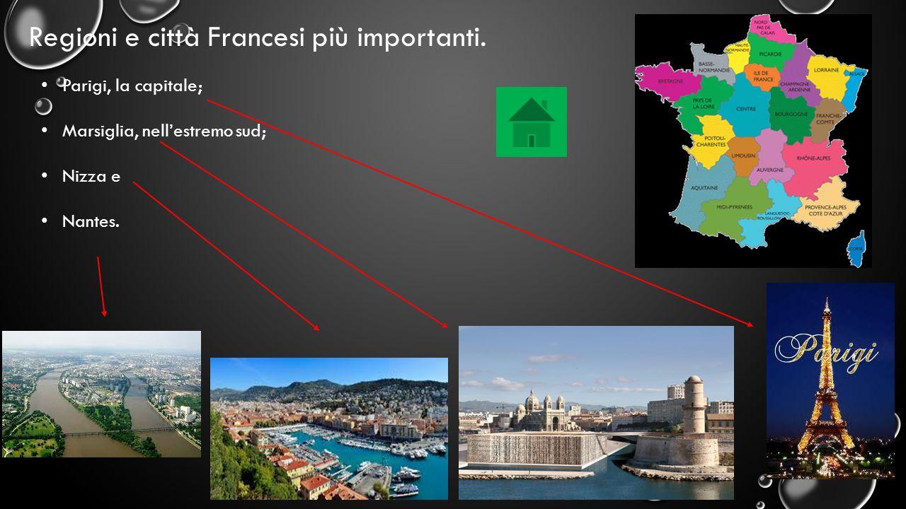 Regioni e città Francesi più importanti.