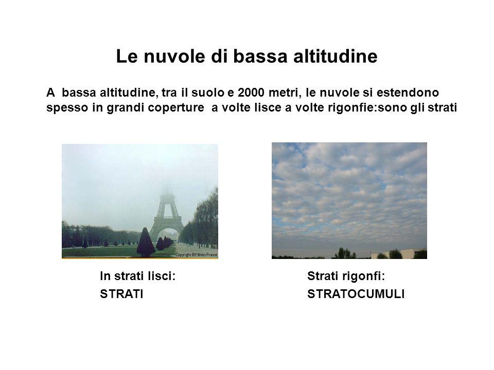 Le nuvole di bassa altitudine