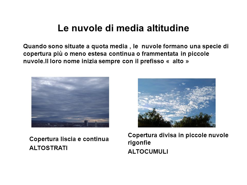 Le nuvole di media altitudine