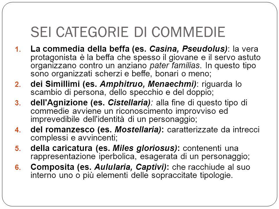 SEI CATEGORIE DI COMMEDIE