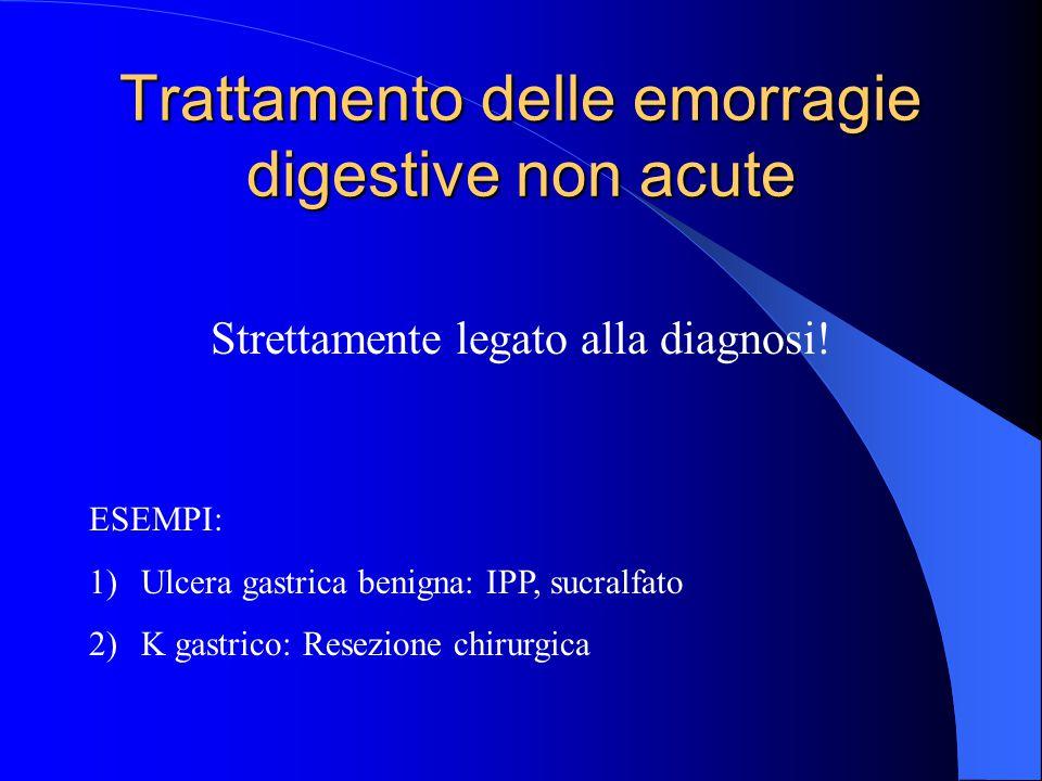 Trattamento delle emorragie digestive non acute