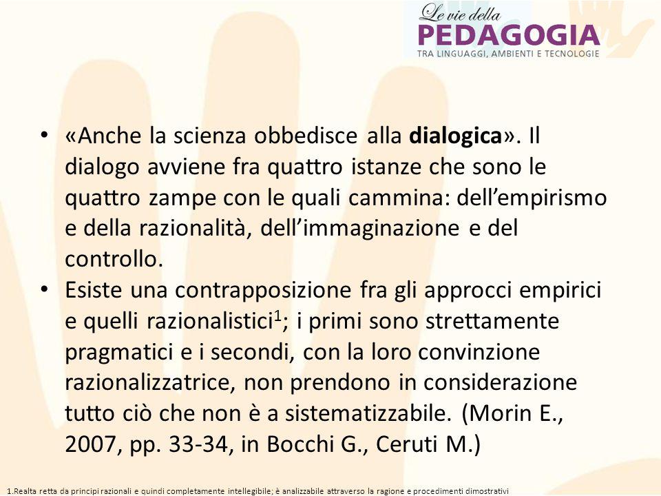«Anche la scienza obbedisce alla dialogica»