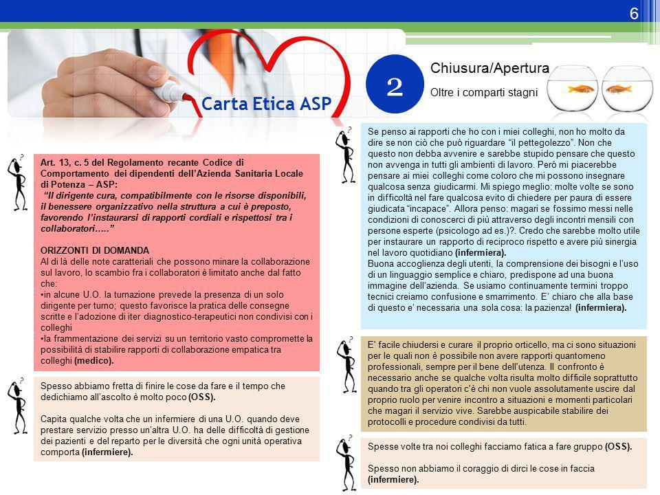 2 Carta Etica ASP Chiusura/Apertura Oltre i comparti stagni