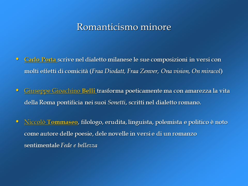 Romanticismo minore