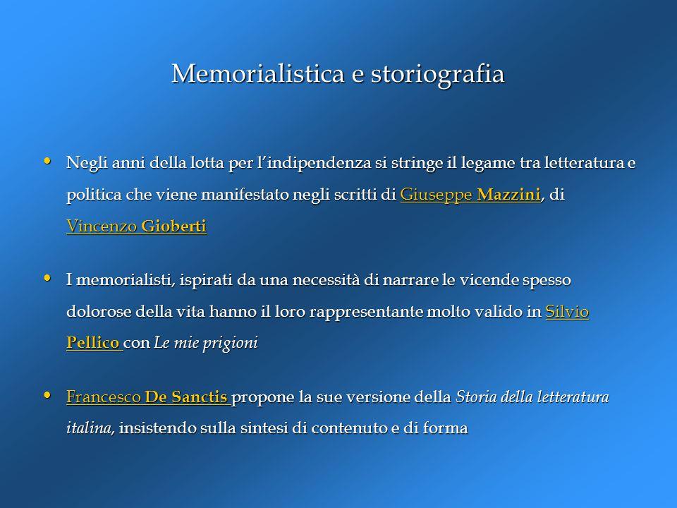 Memorialistica e storiografia