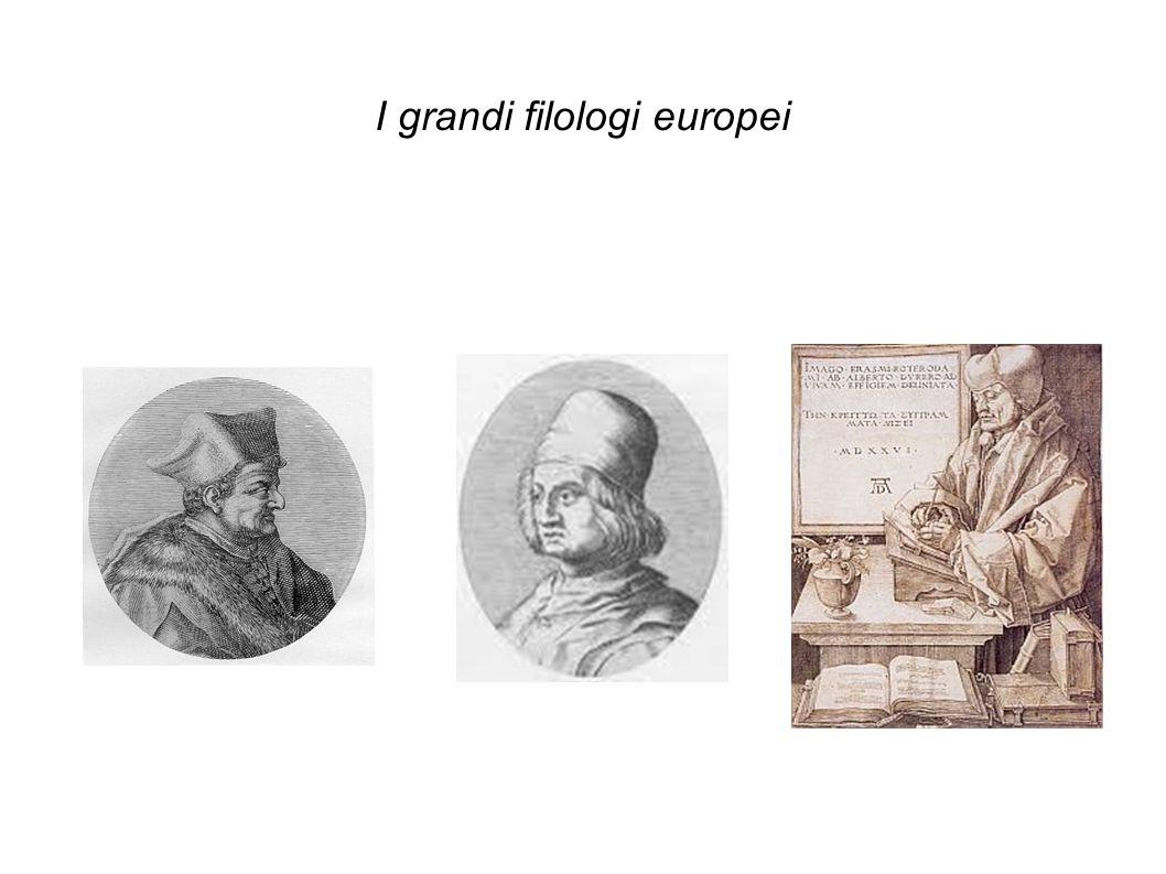 I grandi filologi europei