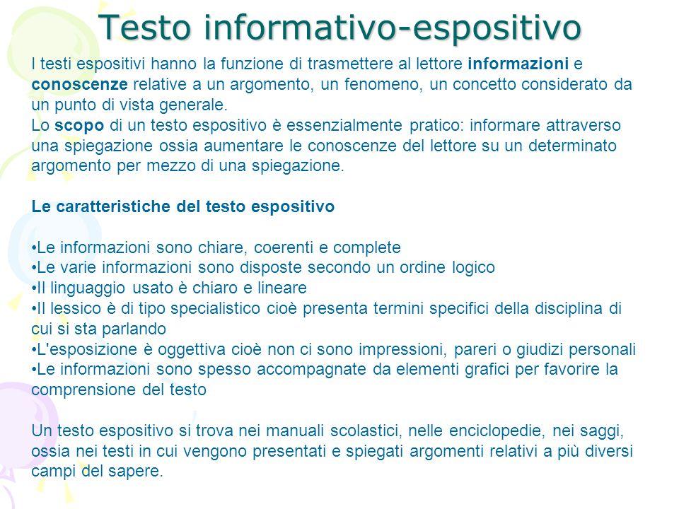 Testo informativo-espositivo