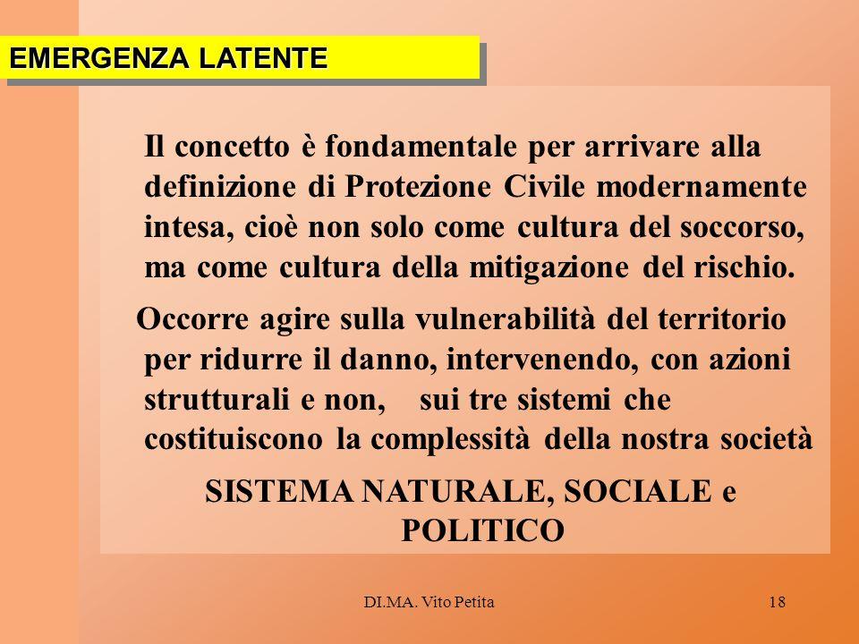 SISTEMA NATURALE, SOCIALE e POLITICO