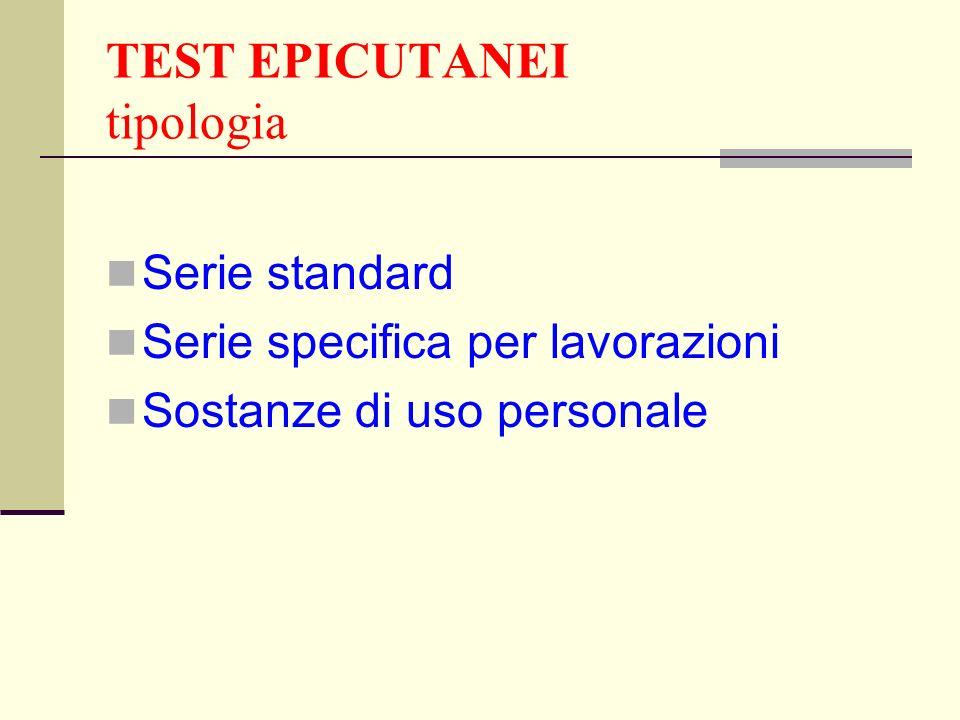 TEST EPICUTANEI tipologia