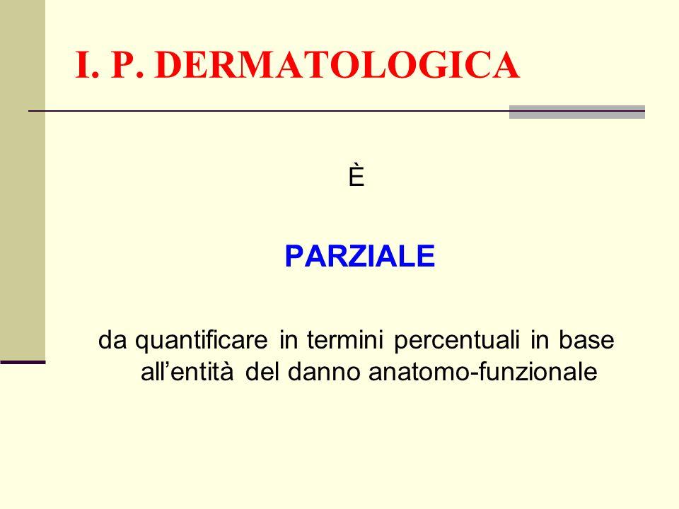 I. P. DERMATOLOGICA È PARZIALE