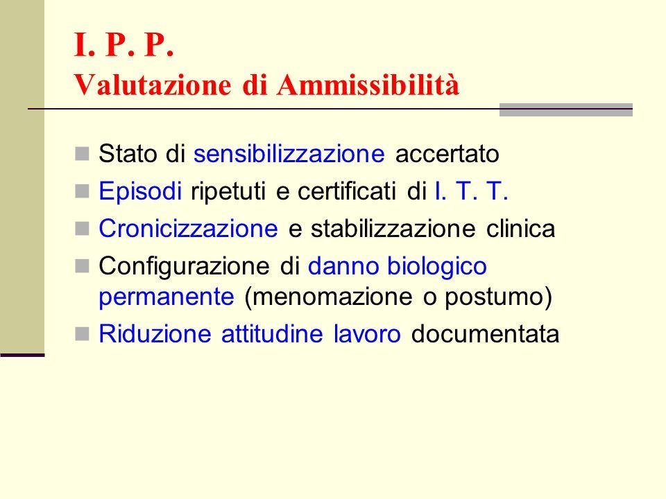 I. P. P. Valutazione di Ammissibilità