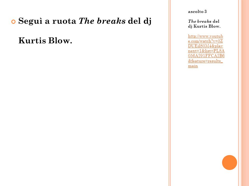 Seguì a ruota The breaks del dj Kurtis Blow.