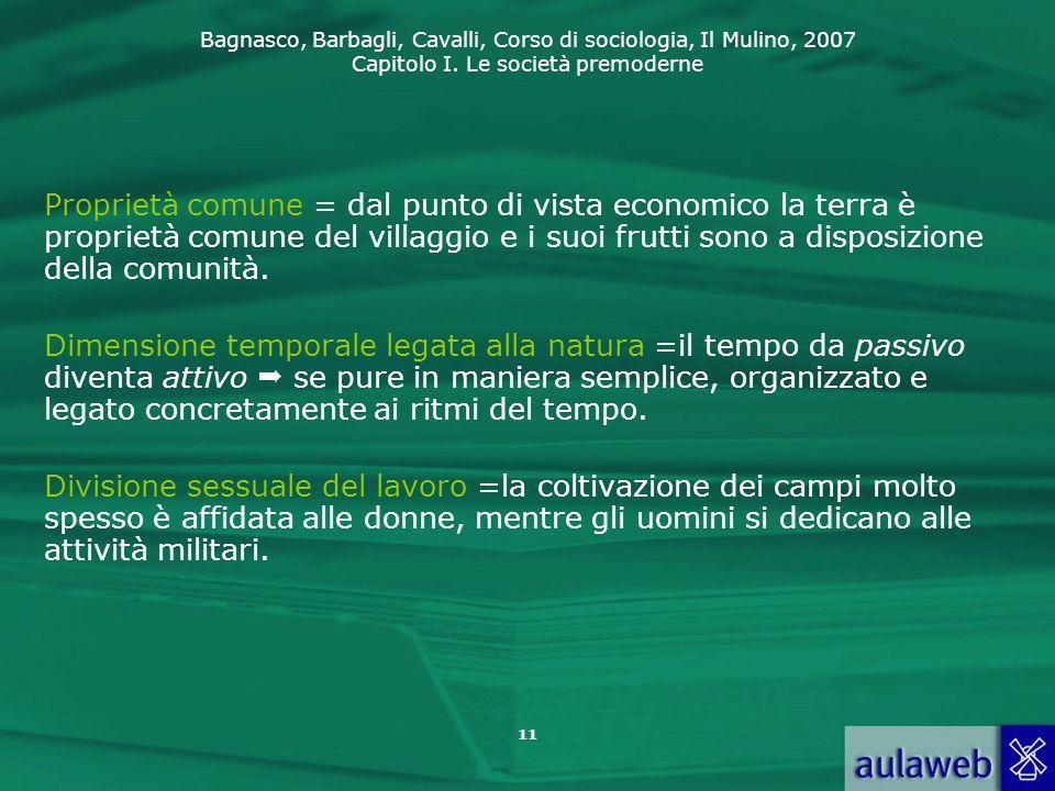 Proprietà comune = dal punto di vista economico la terra è proprietà comune del villaggio e i suoi frutti sono a disposizione della comunità.