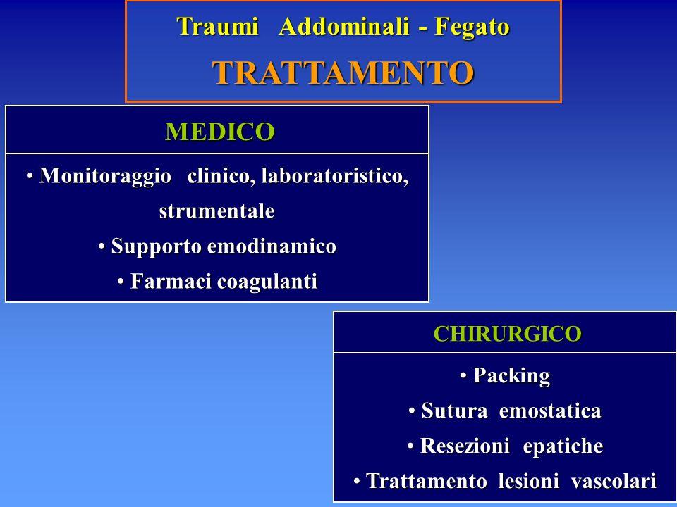 TRATTAMENTO Traumi Addominali - Fegato MEDICO