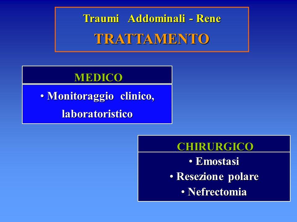 Traumi Addominali - Rene Monitoraggio clinico, laboratoristico