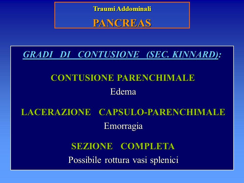 PANCREAS GRADI DI CONTUSIONE (SEC. KINNARD): Edema