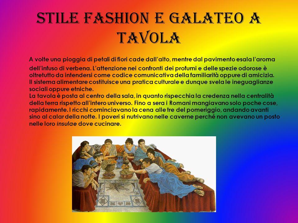 Stile fashion e galateo a tavola