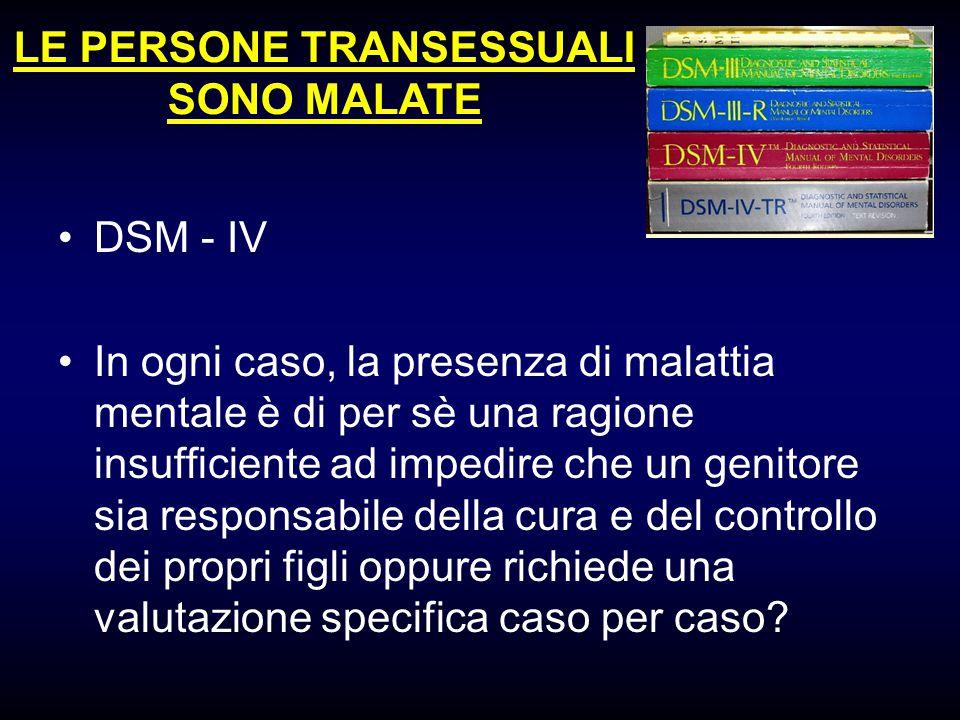 LE PERSONE TRANSESSUALI