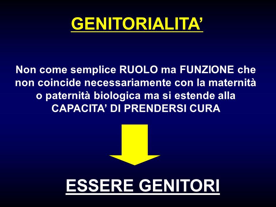 GENITORIALITA' ESSERE GENITORI