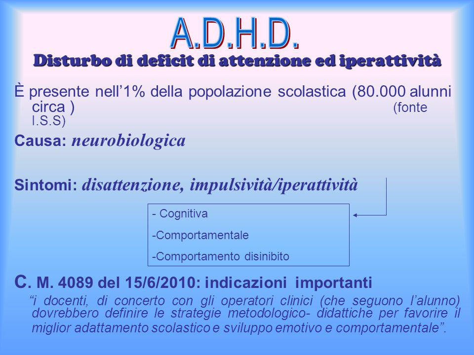 Disturbo di deficit di attenzione ed iperattività