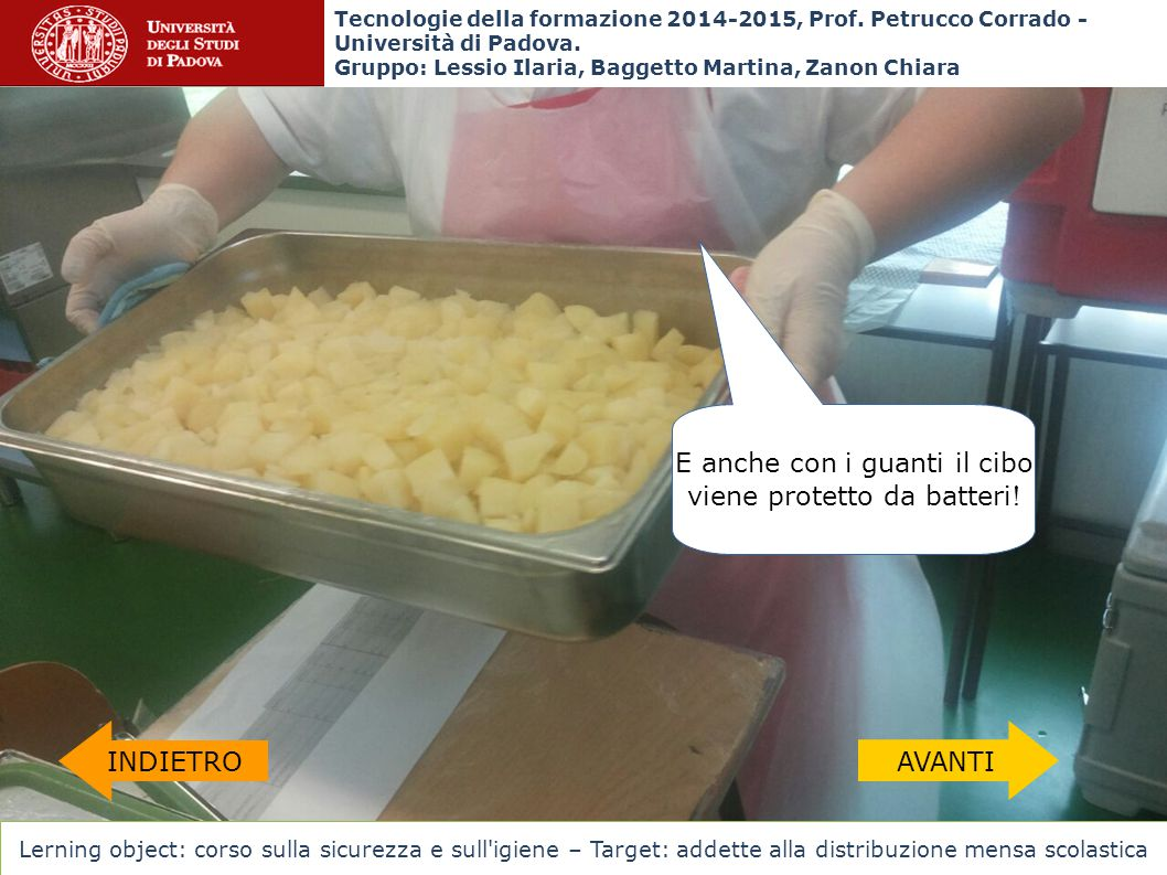 E anche con i guanti il cibo viene protetto da batteri!