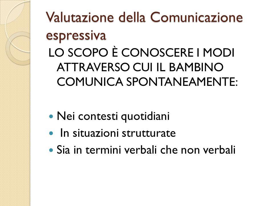 Valutazione della Comunicazione espressiva