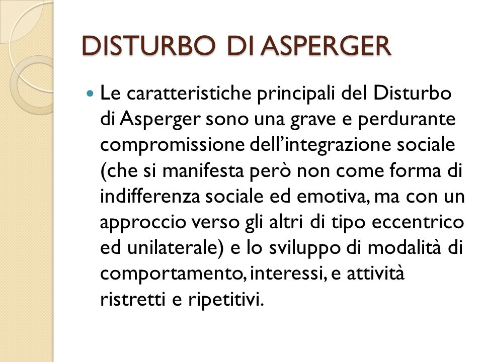 DISTURBO DI ASPERGER