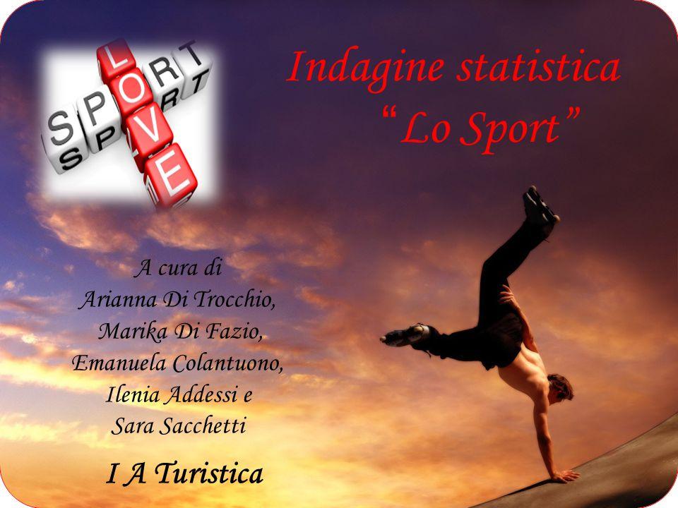 Indagine statistica Lo Sport