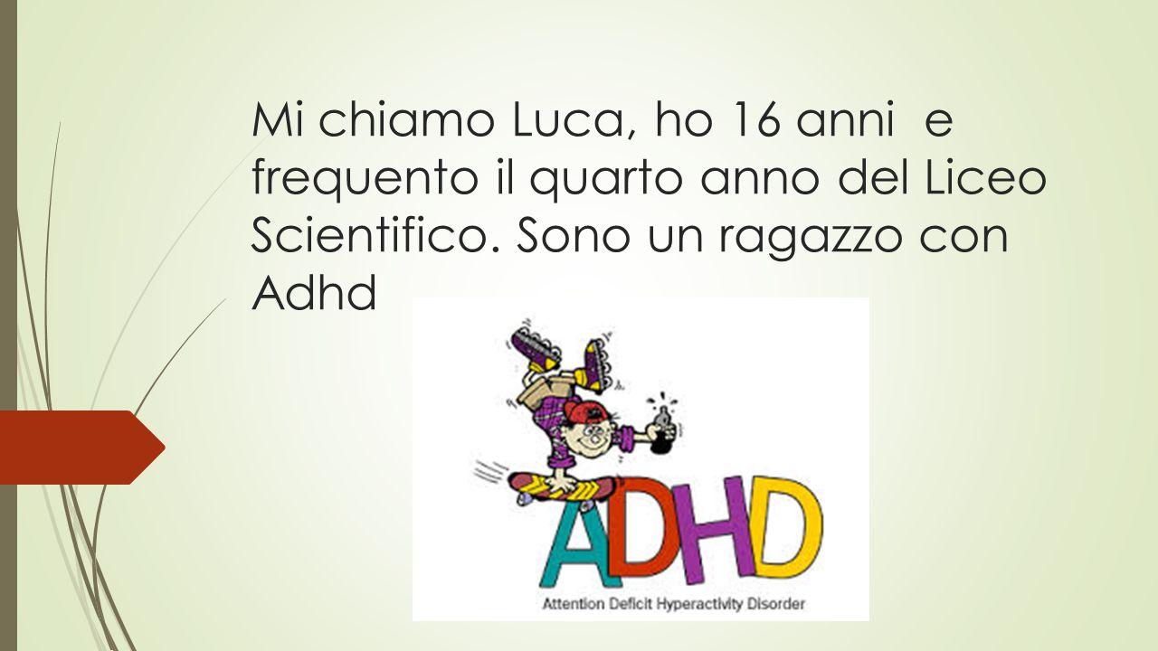 Mi chiamo Luca, ho 16 anni e frequento il quarto anno del Liceo Scientifico.