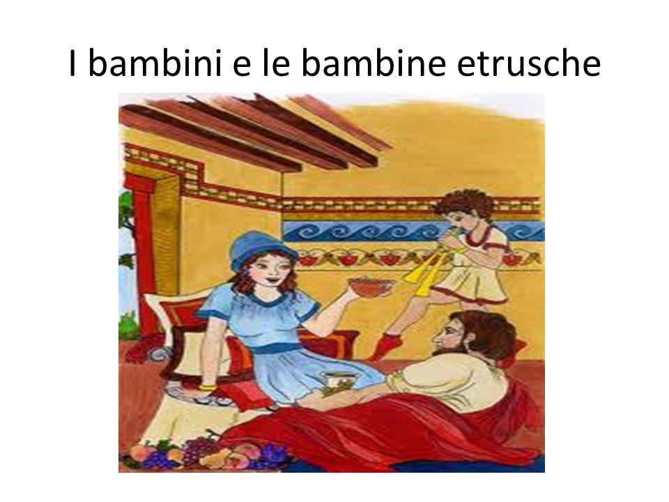 I bambini e le bambine etrusche