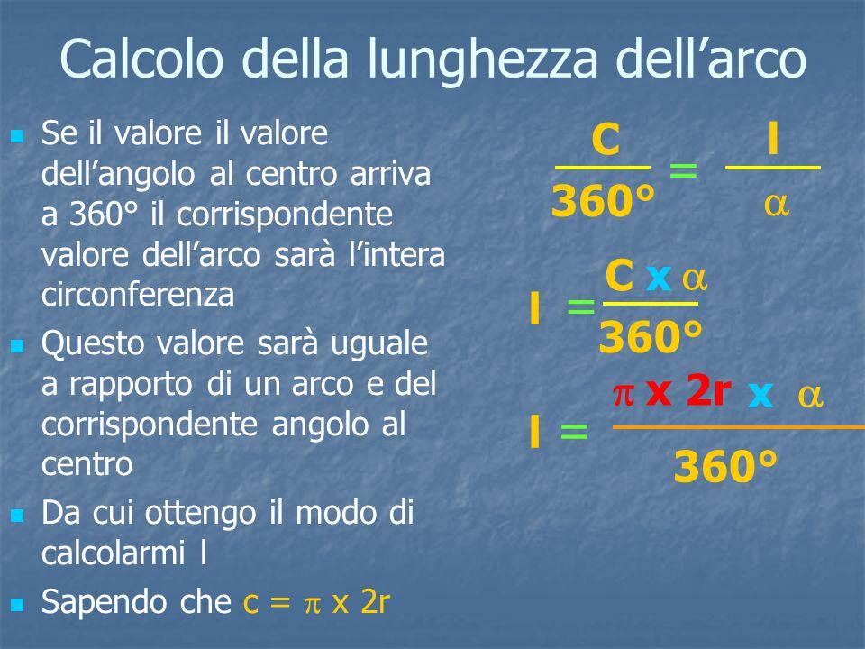 Calcolo della lunghezza dell'arco